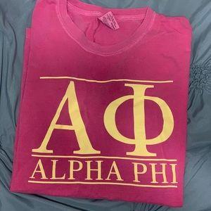 Alpha Phi comfort colors T-shirt